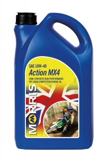 Morris Action MX4 10W-40 - olej pro 4T motory MX, Enduro, Offroad racing, 4l